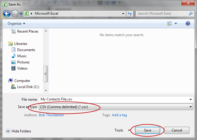 How To Import CSV Contacts In Outlook 2012