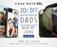 Case-Mate Father's Day Promo Banner