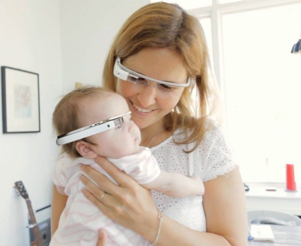 baby on google glass