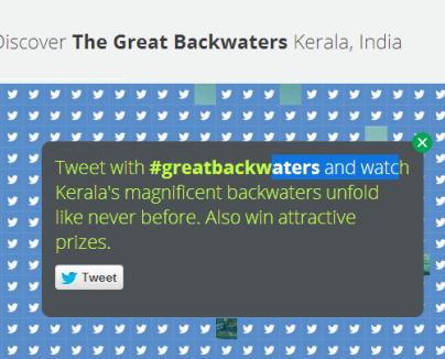 great backwaters campaign by kerala tourism